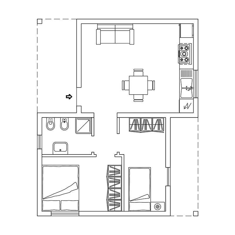 Progetto casa 75 mq latest arredare una mansarda di meno - Progetto casa 75 mq ...